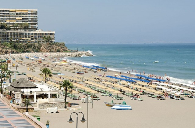 Beachfront, 3 bed, 2 bath apartment located on the first line beach in the sought after resort of La,Spain
