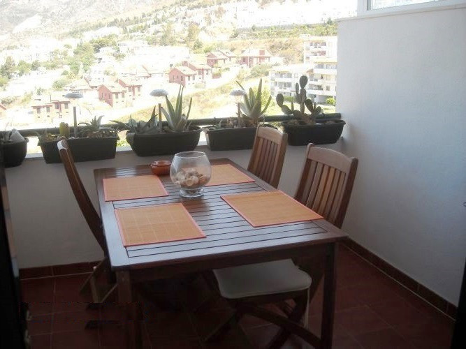 Beautiful 2 bedroom apartment in  Benalmadena Pueblo. Large dining room with direct access to the te, Spain