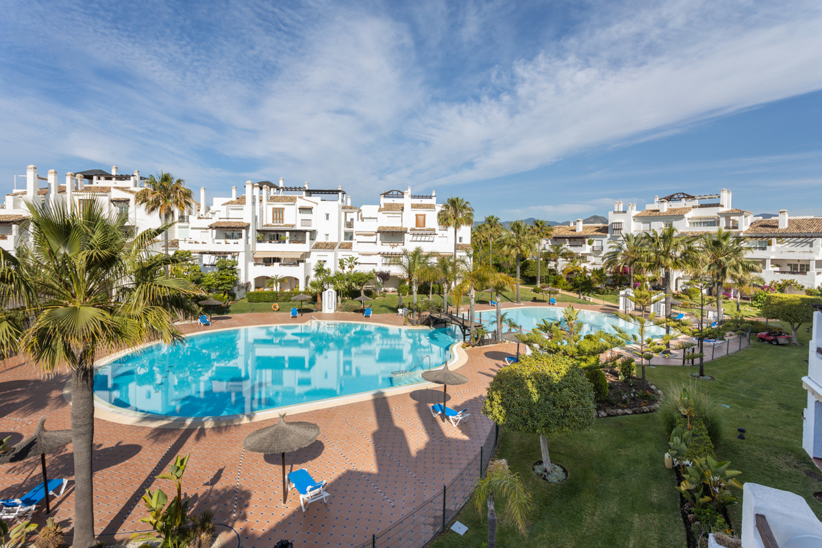 Nice second floor apartment located in the well known development of Las Adelfas, first line of San ,Spain