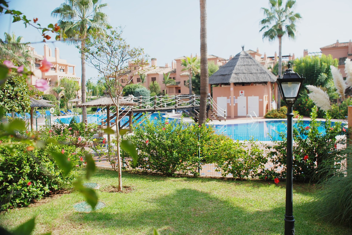 Southwest facing ground floor apartment with access to one of 5 swimming pools in the complex. The a,Spain