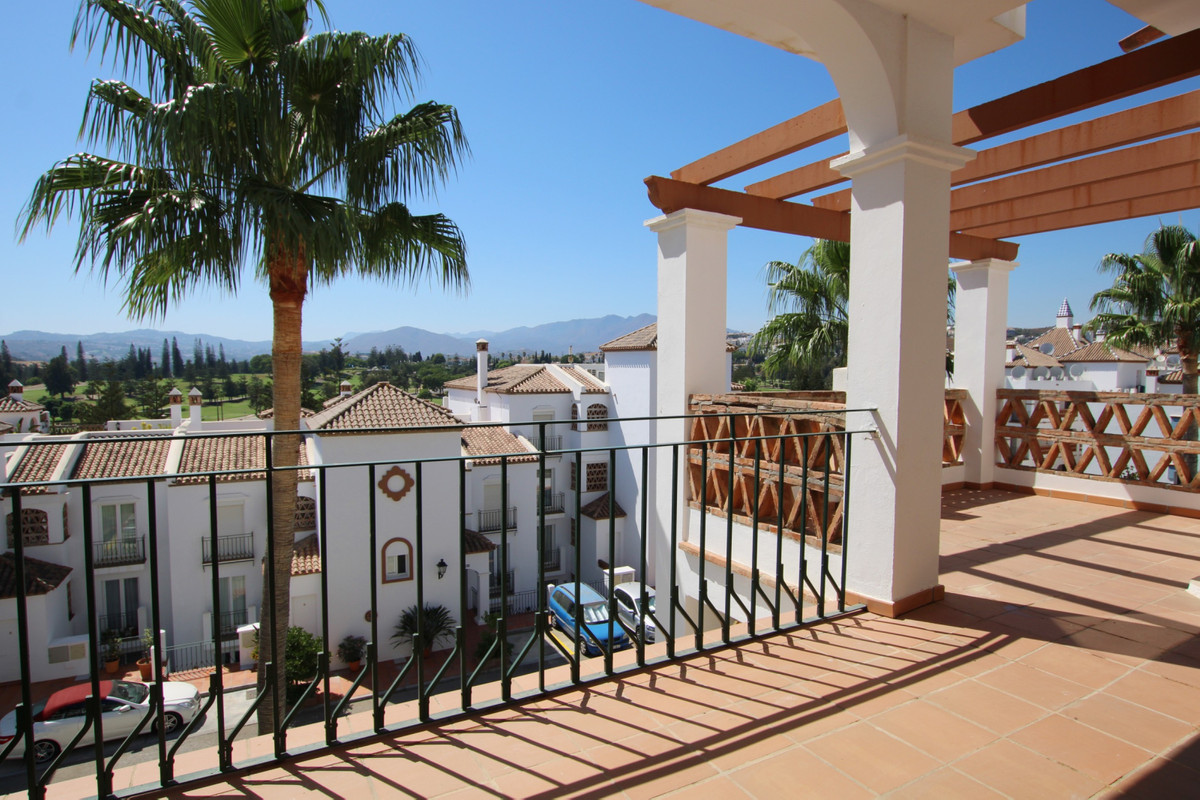 This large bright 2nd floor apartment has beautiful views across Mijas Golf and to the mountains bey,Spain