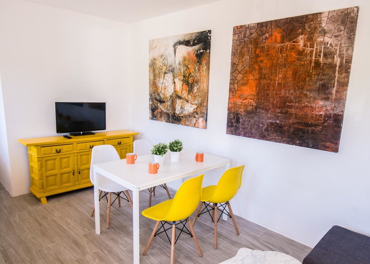 Spacious and bright apartment in Benalmadena, with two bedrooms, a bathroom, kitchenette and large l,Spain
