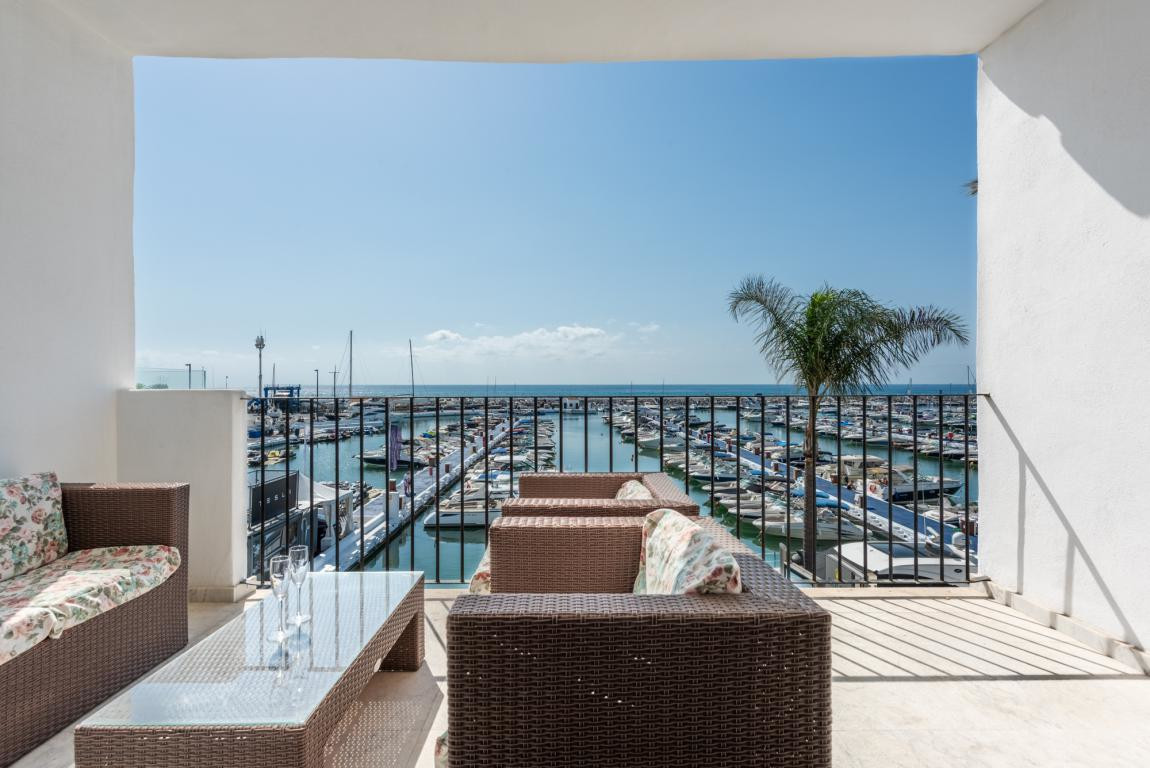 An unusually large duplex penthouse situated front line Puerto Banus. The property enjoys uninterrup,Spain