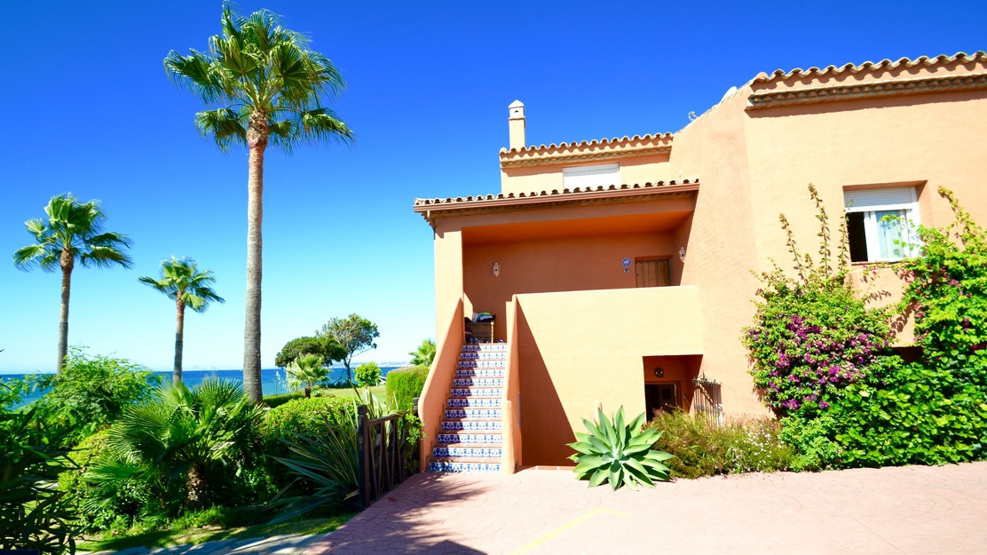 New on the market 1st line beach in Estepona - exquisite urbanization Playa del Angel with huge and , Spain