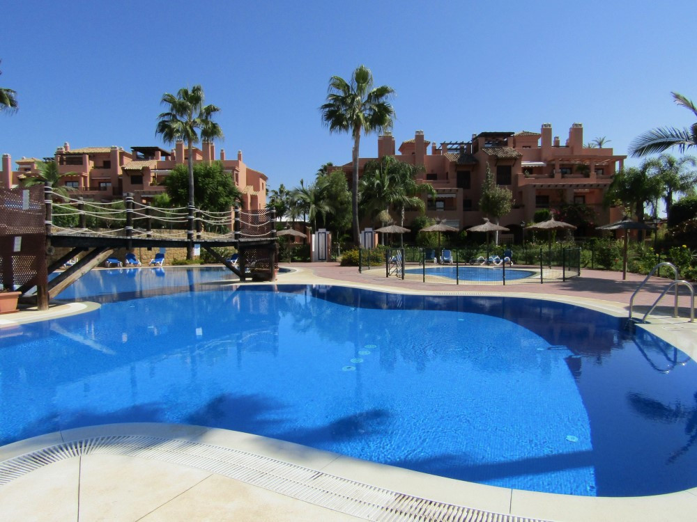 Nice and spacious 2 bedroom apartment on the ground floor in the beautiful Hacienda del Sol, next to,Spain