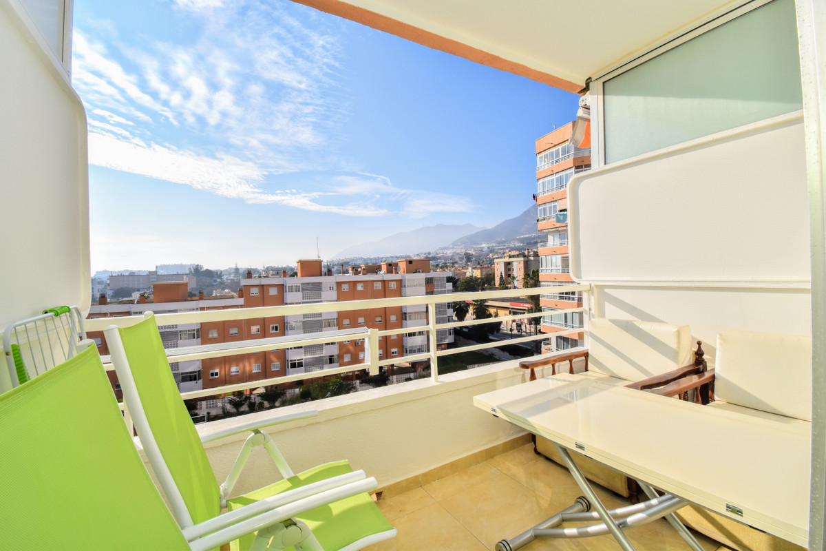 Spacious, nice and modern furnished studio with up to four beds and large sunny terrace. Kitchenette, Spain