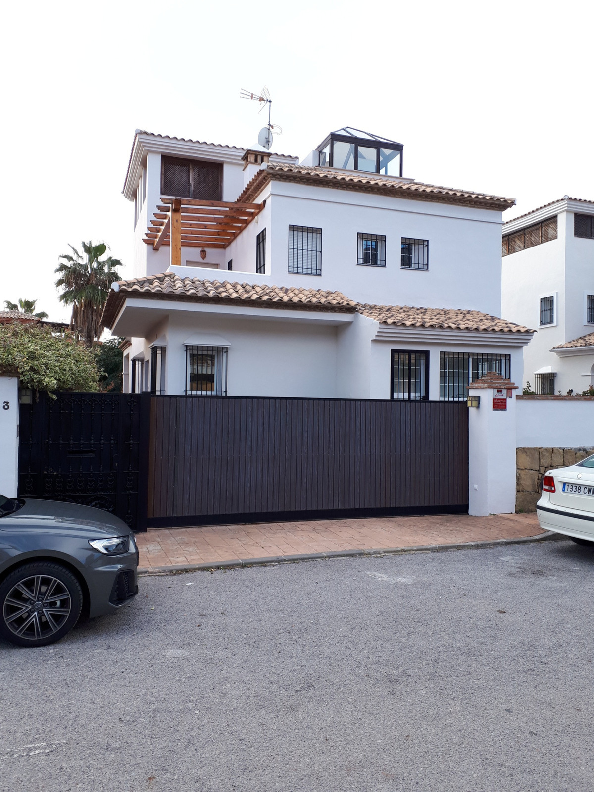 A great property in Marbella, has a private swimming pool.   The top level of the property has some , Spain