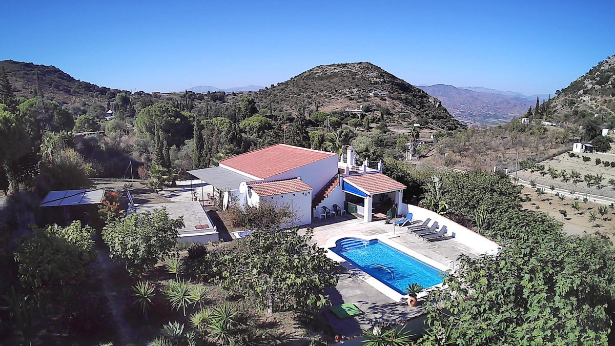 Finca situated in the picturesque and peaceful mountains of Cartama.  The property comprises covered,Spain