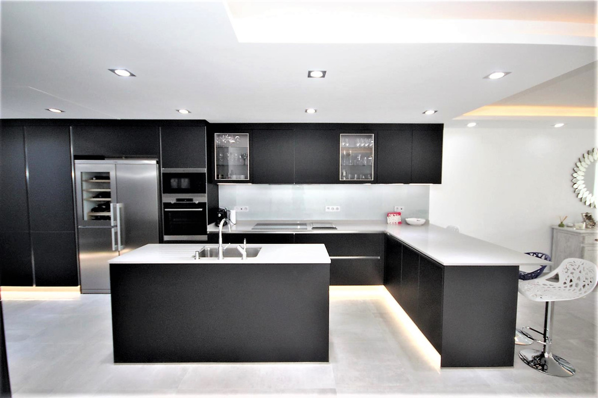 Beautiful modern townhouse set in a beachfront urbanization in bahia de marbella. Only 50 m from the,Spain