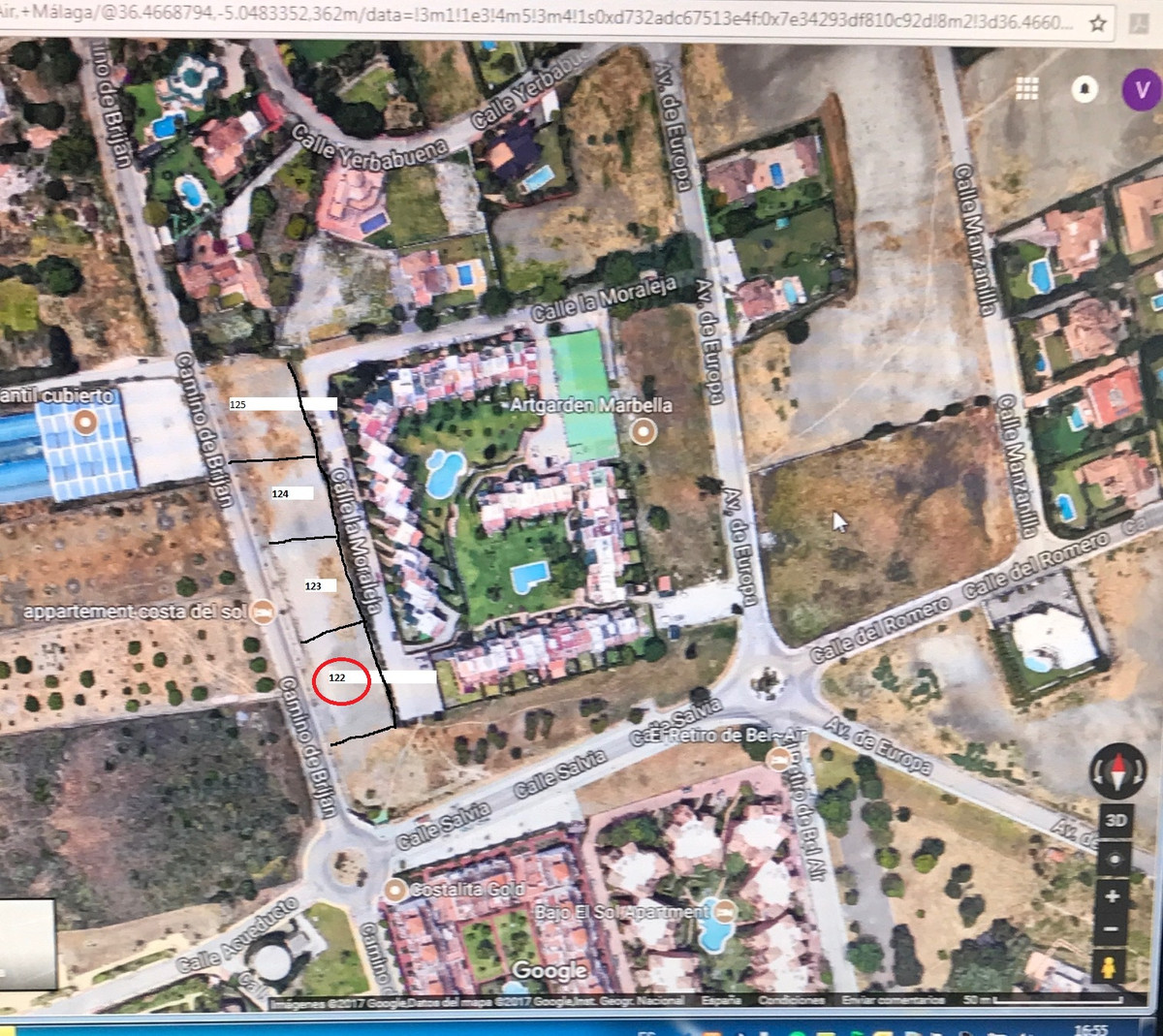 Urban plot qualified as  UE-4 and the main parameters are: Minimum plot: 1000 m2 front minimum 15 m , Spain