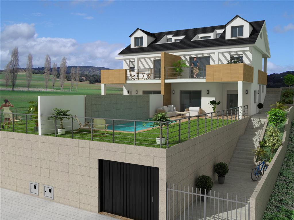 New construction project for a semi-detached house, 5 minutes from the beach. This will be a three-s,Spain