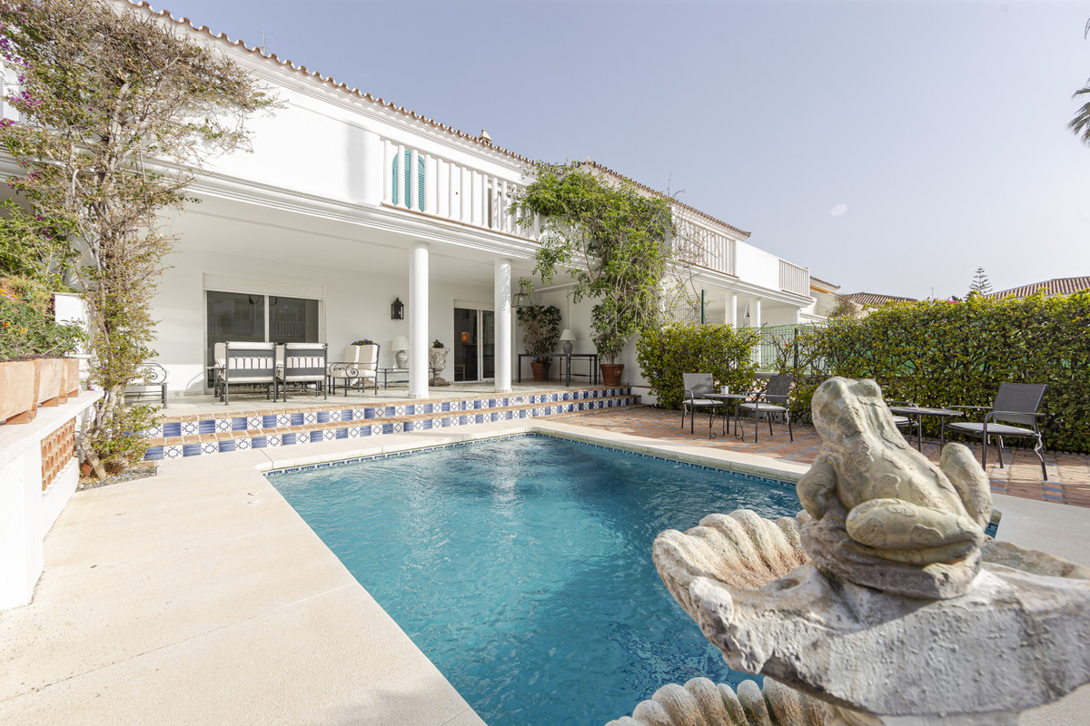 Townhouse on the beach, in Guadalmina Baja  Semi-detached house on the first line to the sea in Guad,Spain