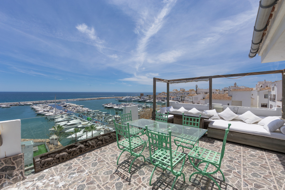 Luxurious duplex penthouse in Puerto Banus, with unbeatable views to the sea and marina. Located on , Spain
