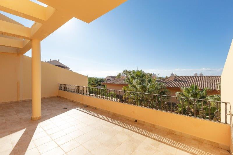 Spacious two bedroom duplex penthouse for sale close to golf clubs in Nueva Andalucia. This secured , Spain