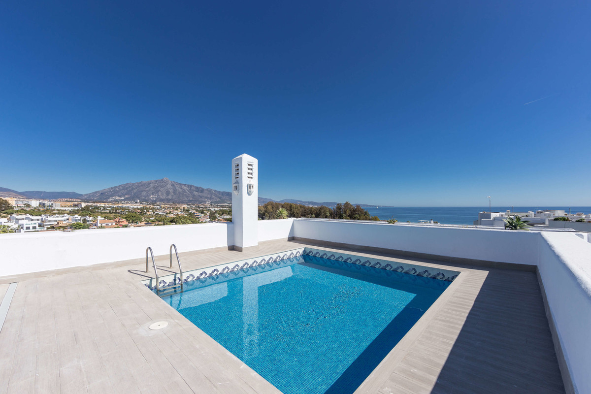 Sleek, stylish and timeless in its sophisticated design, this is frontline beach penthouse luxury at,Spain