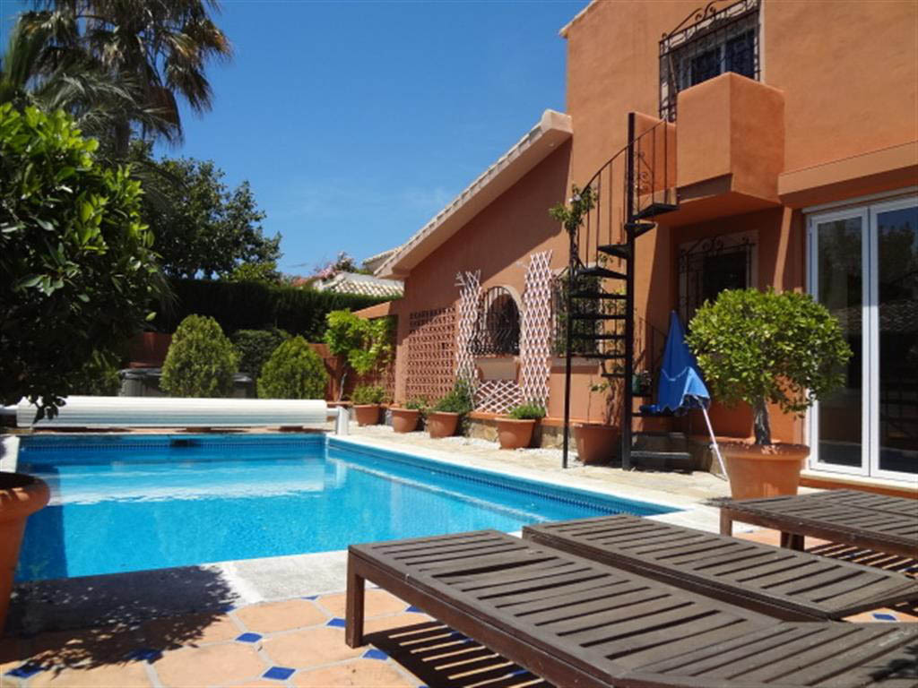 Magnificent villa situated in one of the best areas of Marbella a few minutes walk from the beach an, Spain