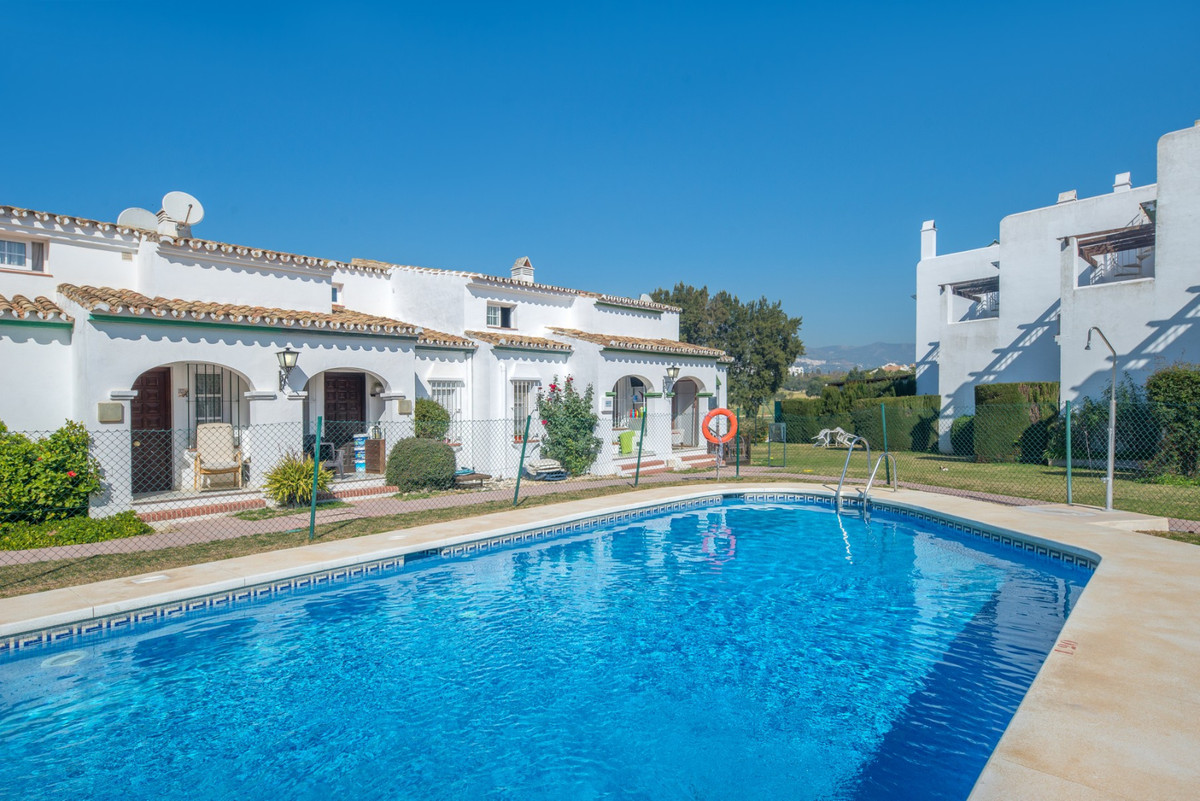 This well-maintained townhouse is located frontline golf in Mijas Golf, about a 10 minute drive to t, Spain