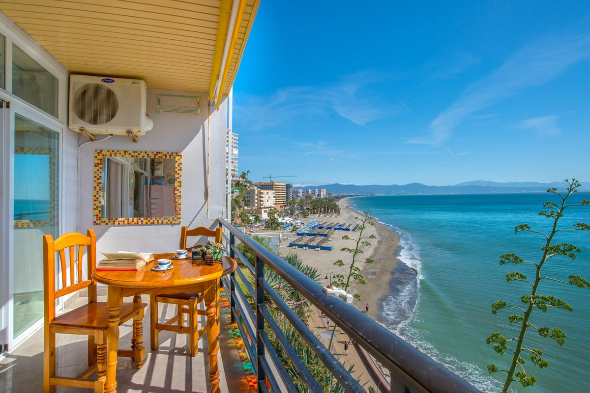 RESERVED -------- This spacious frontline beach apartment is located between Bajondillo and Carihuel, Spain