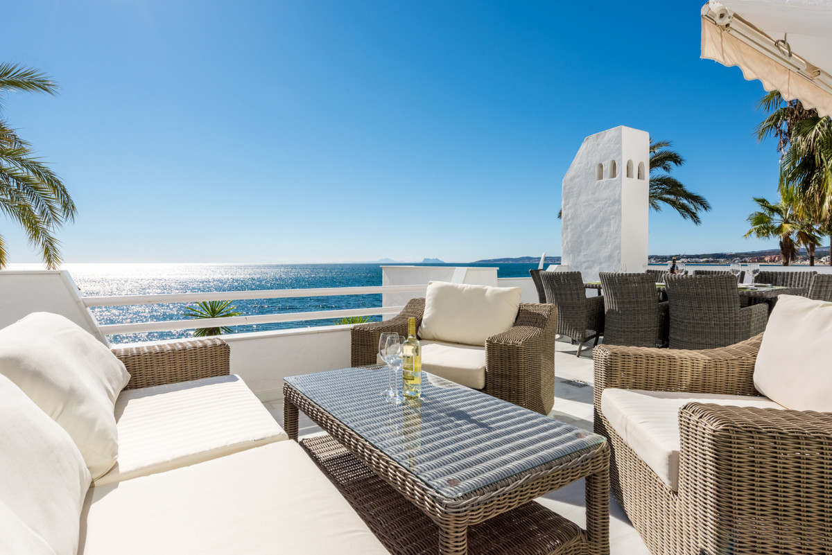 ESTEPONA, right on the best beach. Is this the most beachfront apartment on the Costa del Sol? You c,Spain