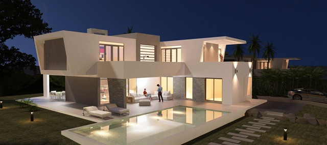 NEW PROJECT IN MONTE BIARRITZ WITH BUILDING LICENSE, ESTEPONA. This unique project of 3 modern villa, Spain