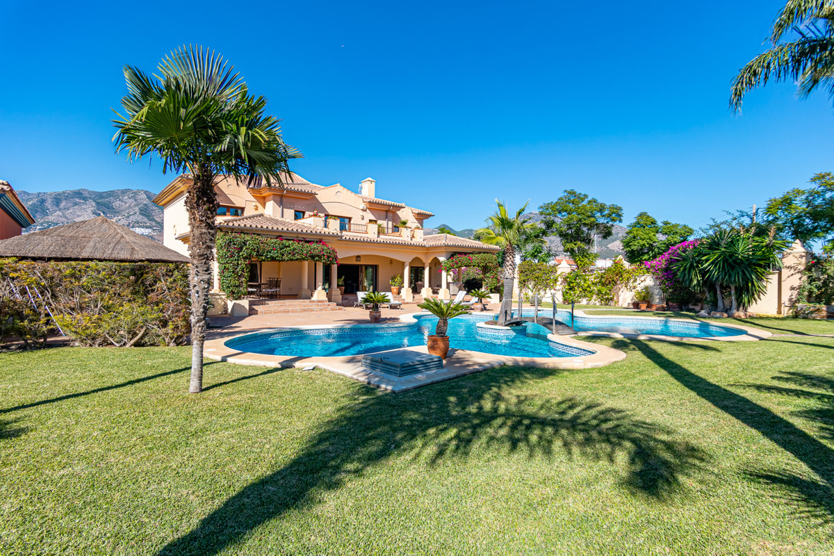 This exceptional and very substantially sized Andalucian style family villa situated in Mijas, just ,Spain