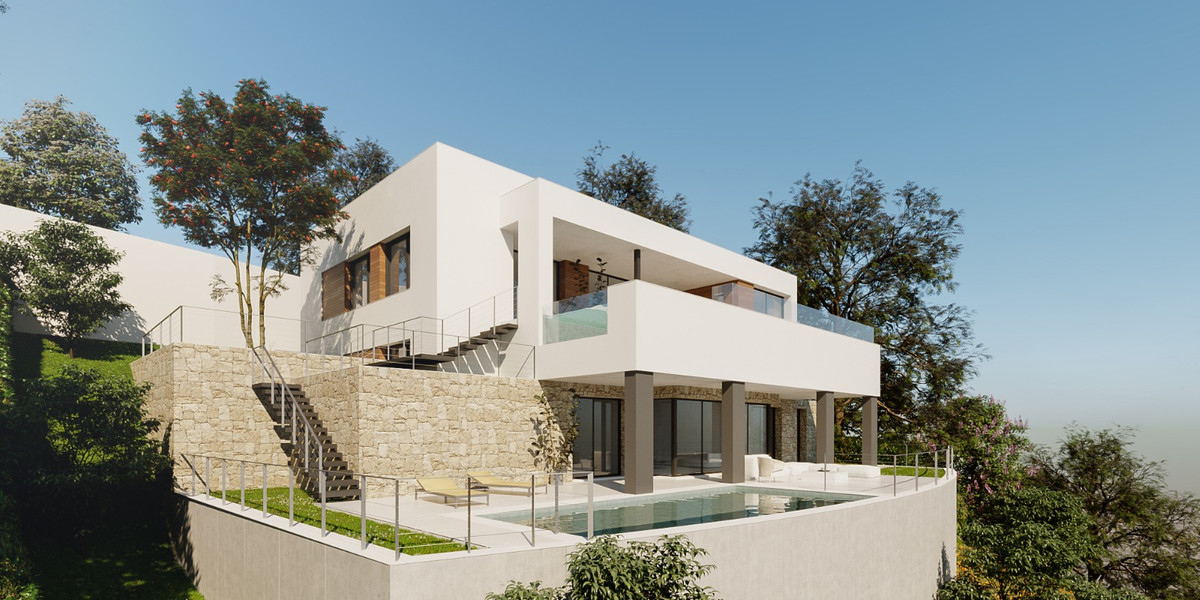 Plot for sale with a project of a beautiful modern villa. It is distributed over three floors, one a, Spain