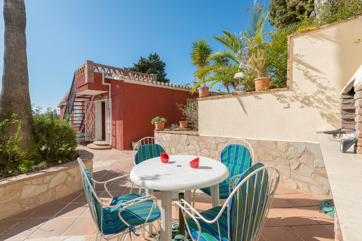Charming villa in Urb. Ricmar, Elviria comprising of 2 bedrooms at entrance level and large master b,Spain