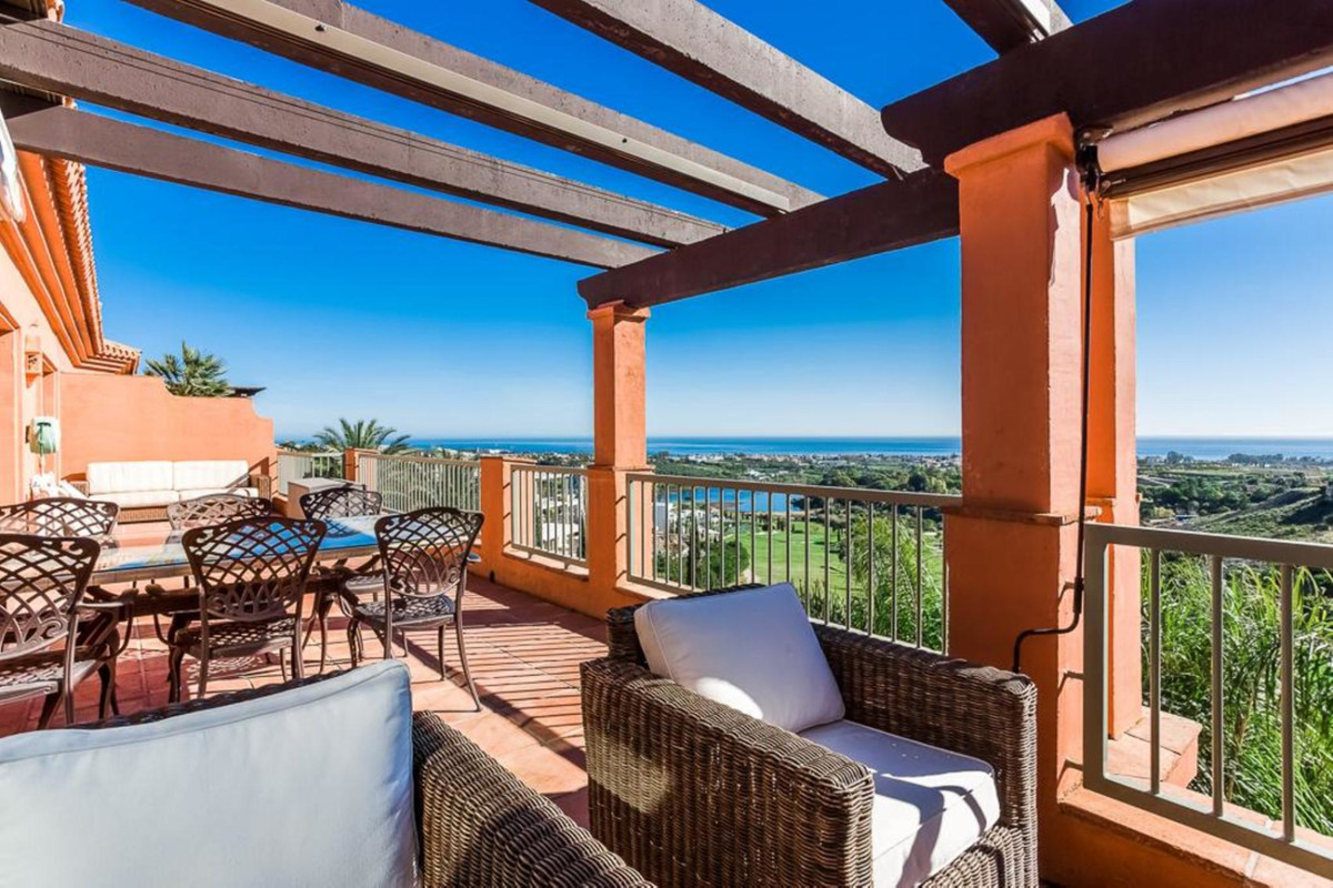 Royal Flamingos in Los Flamingos Duplex-Penthouse with stunning panoramice views to the sea. Huge te,Spain