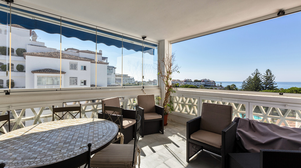 Spacious, east facing corner apartment with great sea views located in the heart of Puerto Banus in ,Spain