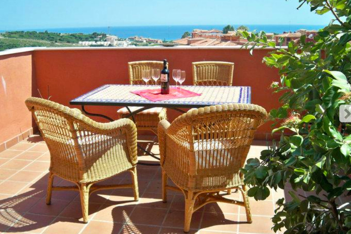 Beautiful penthouse apartment with panoramic sea views & roof terrace.    Underground parking sp,Spain