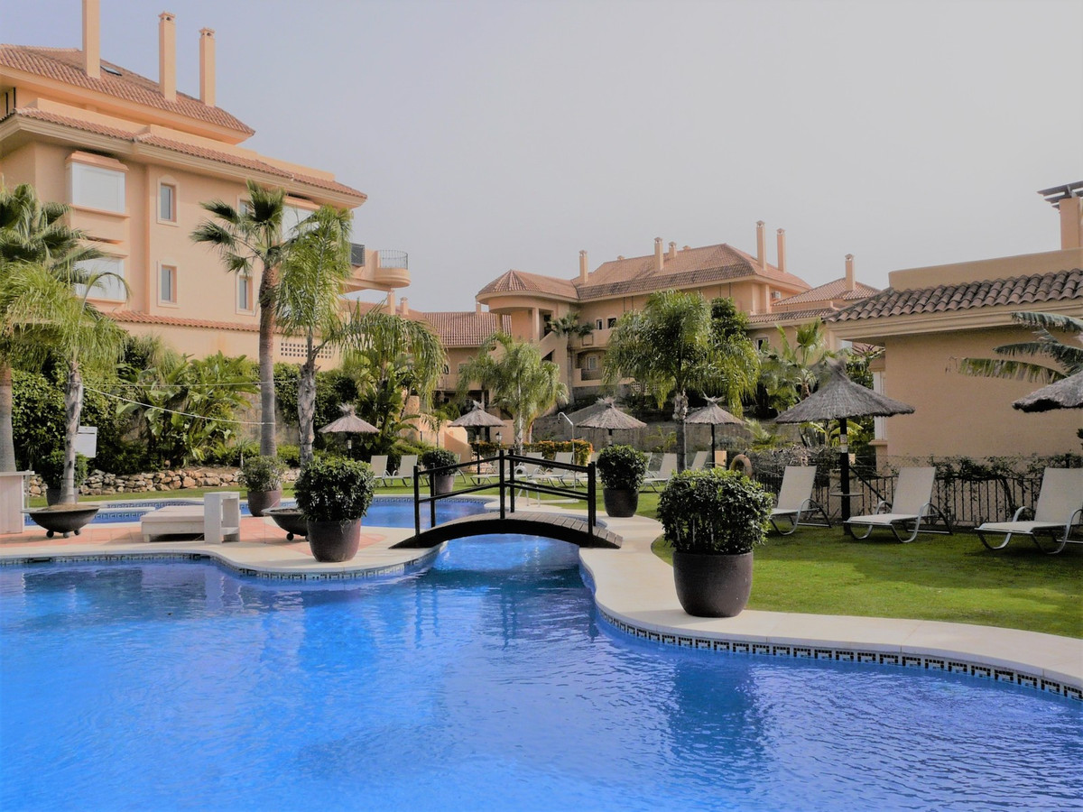 Beautiful view of the surroundings from the terrace in the highly sought after urbanization Aloha Hi,Spain