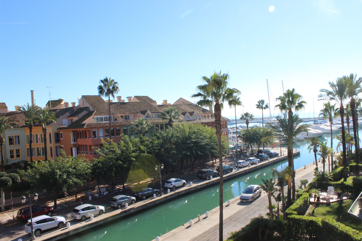 Beautiful fully furnished two bedrooms penthouse overlooking the Marina, the harbor and the beach. C, Spain