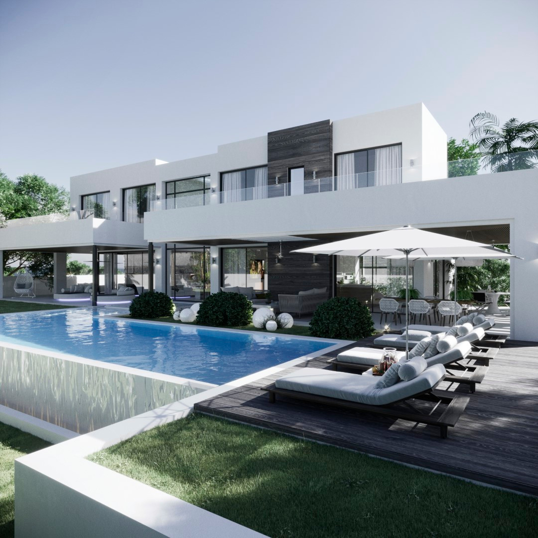 New 5 bedroom villa under construction in La Quinta with panoramic south-facing views only a few min,Spain
