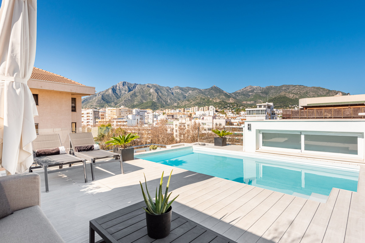 Exclusive and unique duplex penthouse recently built in the heart of Marbella that offers an amazing,Spain