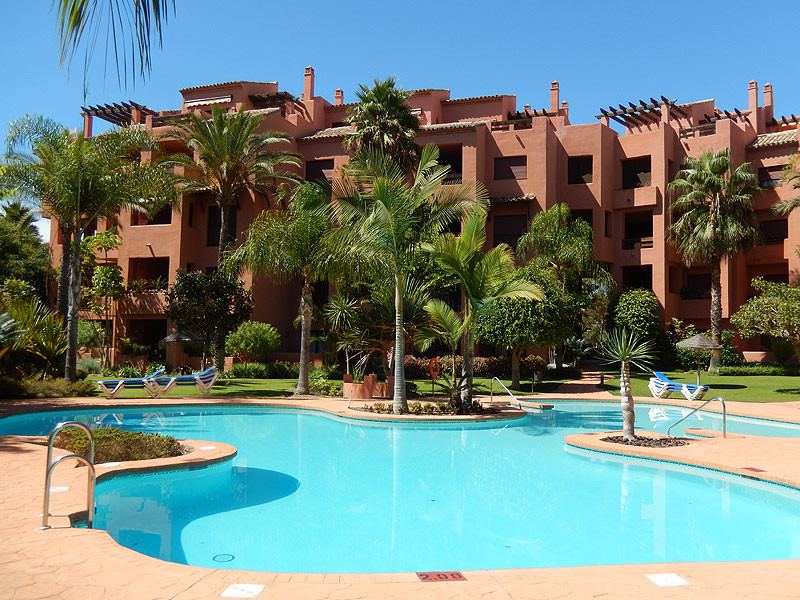 Very nice apartment at the foot of the beach in Las Chapas, Rosario. In a well known complex 1st lin,Spain