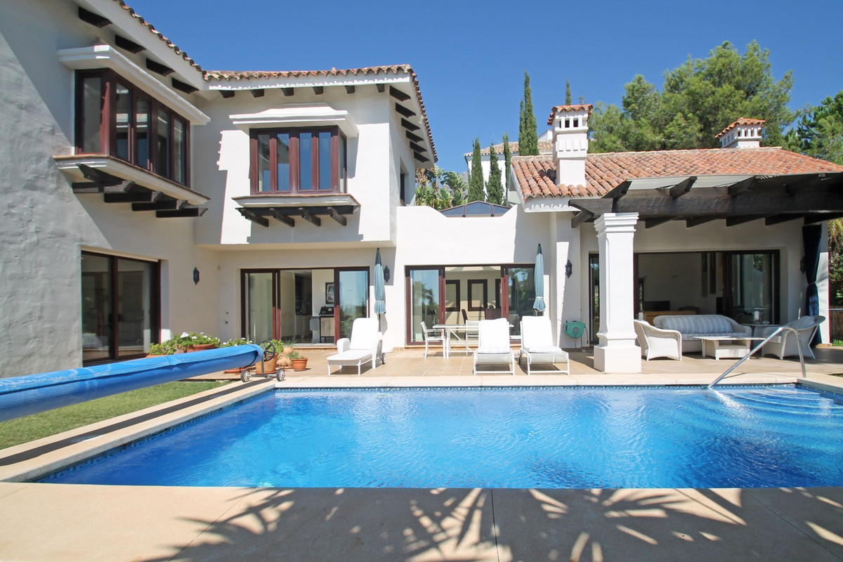 PRIME LOCATION · SEA VIEWS ·Elegant and classic villa with an immaculate mature garden and heated sw Spain