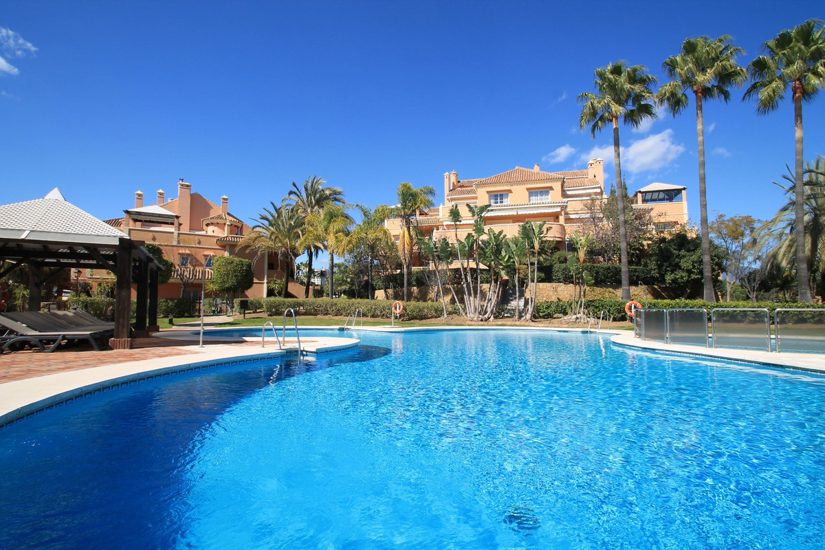 OPPOSITE PUERTO BANUS - Desirable four bedroom garden duplex apartment in a gated complex in Nueva A, Spain