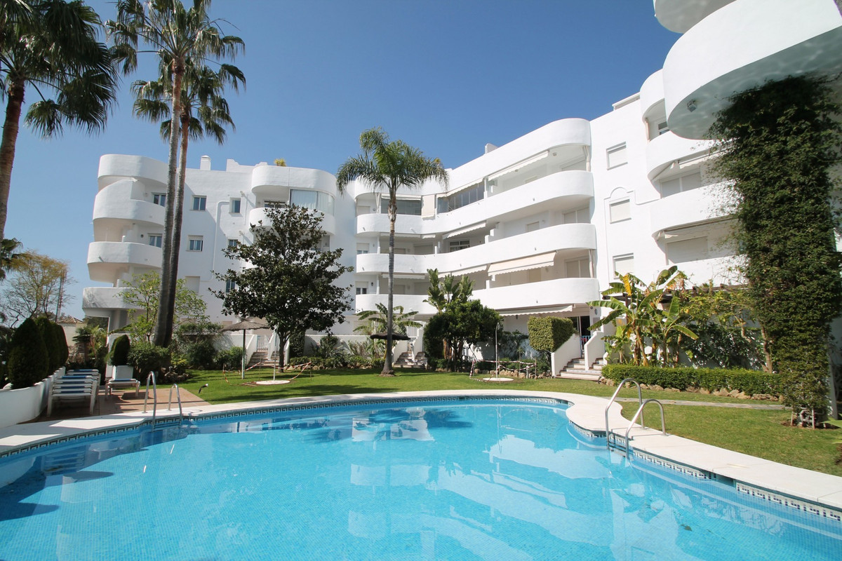 South-East facing two bedroom ground floor in Marbella Real, one of the most sought after complexes , Spain