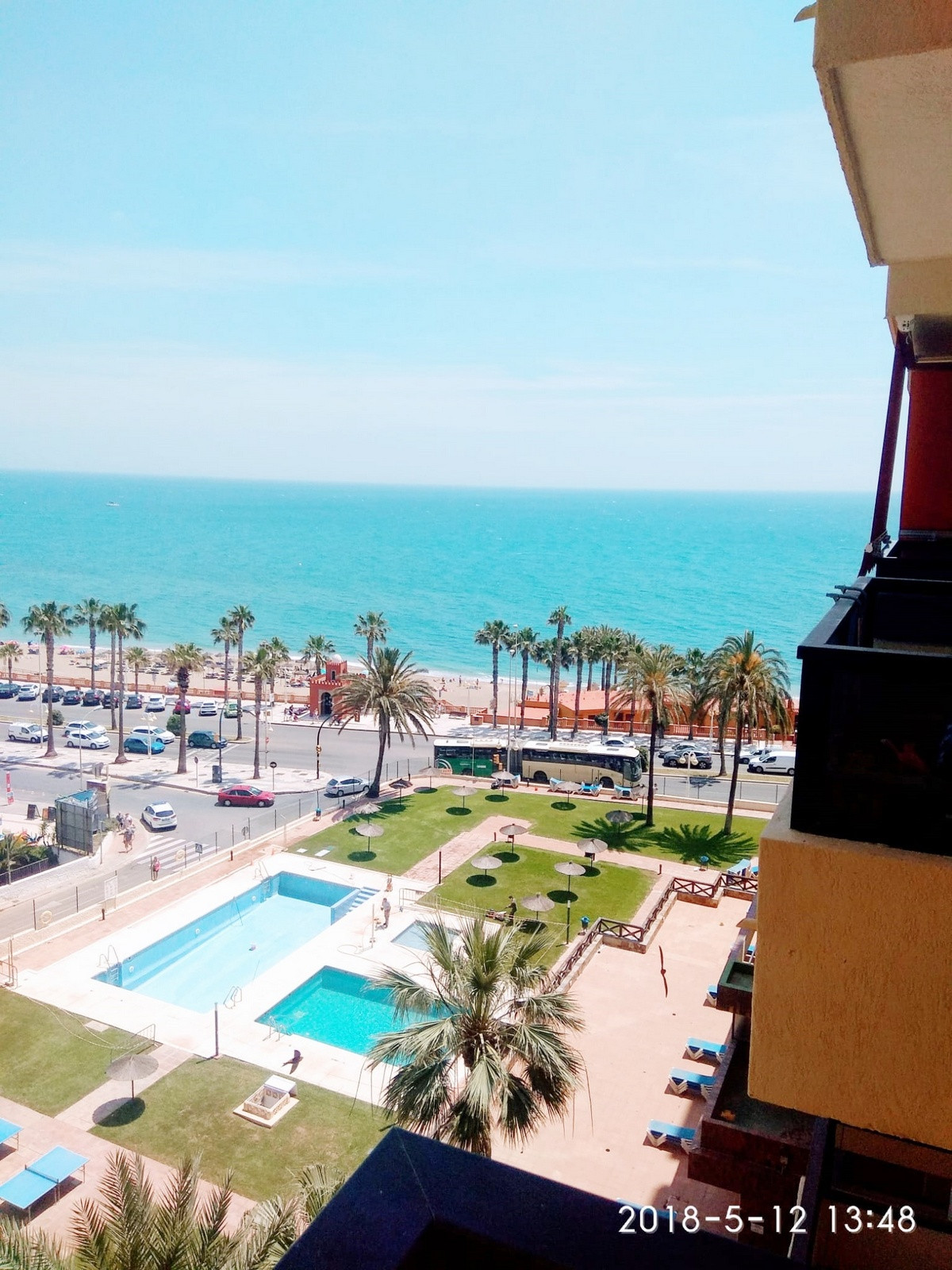 LOVELY 1 BED APARTMENT - FRONTLINE BEACH BENALMADENA This property consists in a lounge (with a doub, Spain