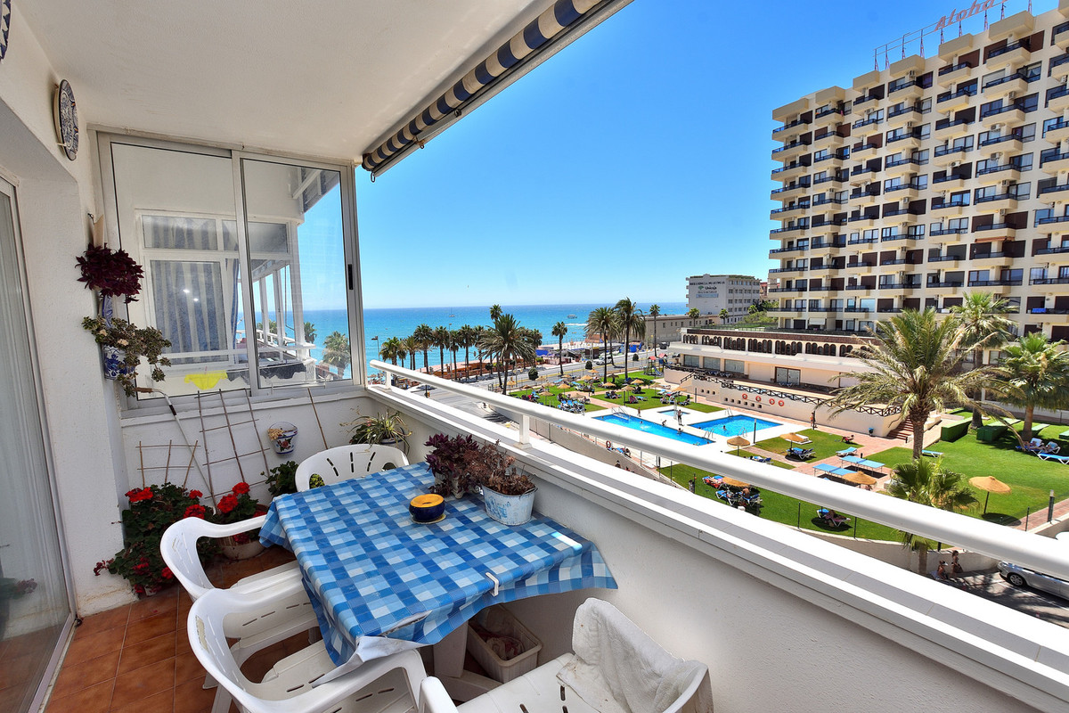 Beachfront apartment in Benalmadena, only 50 meters to the beach and with a magnificent view of the , Spain