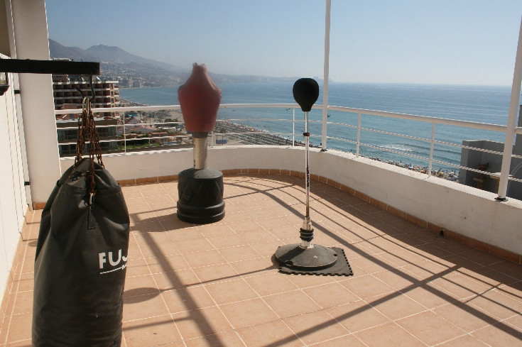 This beach front duplex penthouse apartment is conveniently situated within walking distance to all , Spain