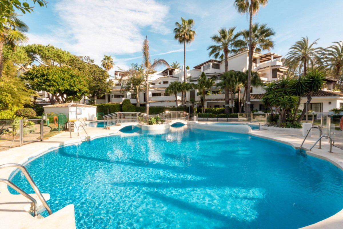 Magnificent 3 bedroom apartment just 100 meters from one of the best beaches in Marbella. Located in,Spain