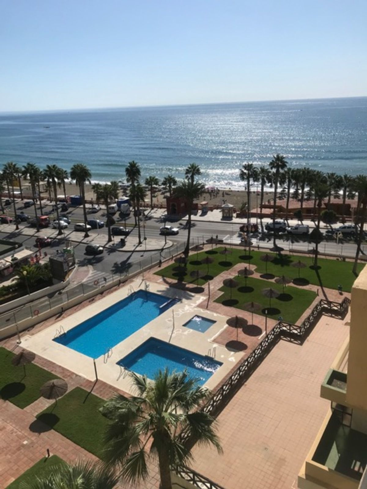 Just 90 meters from the beach, on the coast of Benalmadena, you can find this cozy apartment with se, Spain