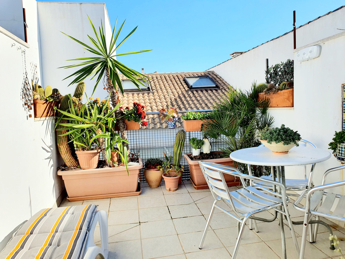 Charming duplex with  private terrace in the center of Malaga, super bright and with parking include, Spain
