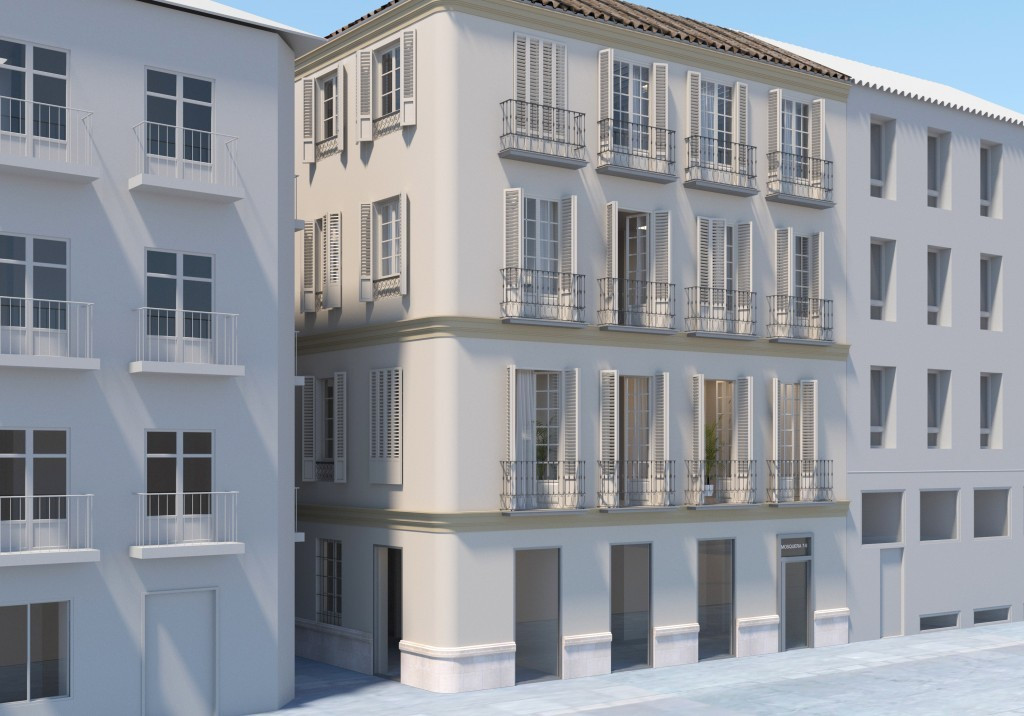 Classic Living is building an 861,40 square metres apartment complex in the very centre of Malaga, i,Spain