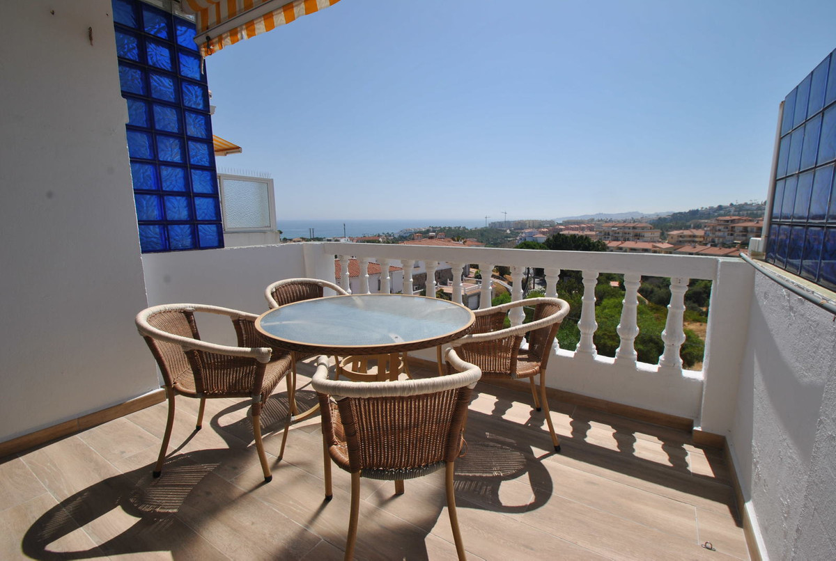 This top floor apartment is located in a gated complex in Mijas Costa just 750 meters easy walk to t,Spain