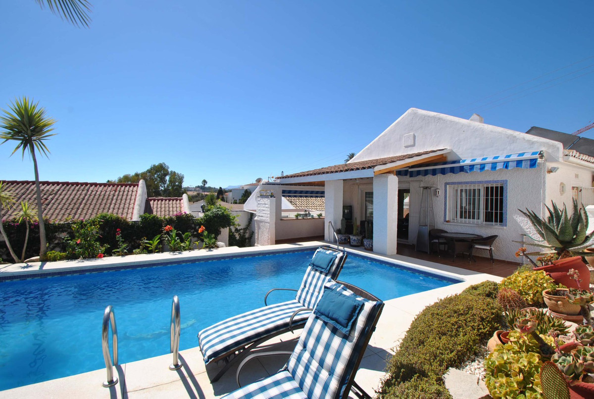 Fantastic villa on one level in a quiet and safe road yet located just a five minute easy stroll to ,Spain