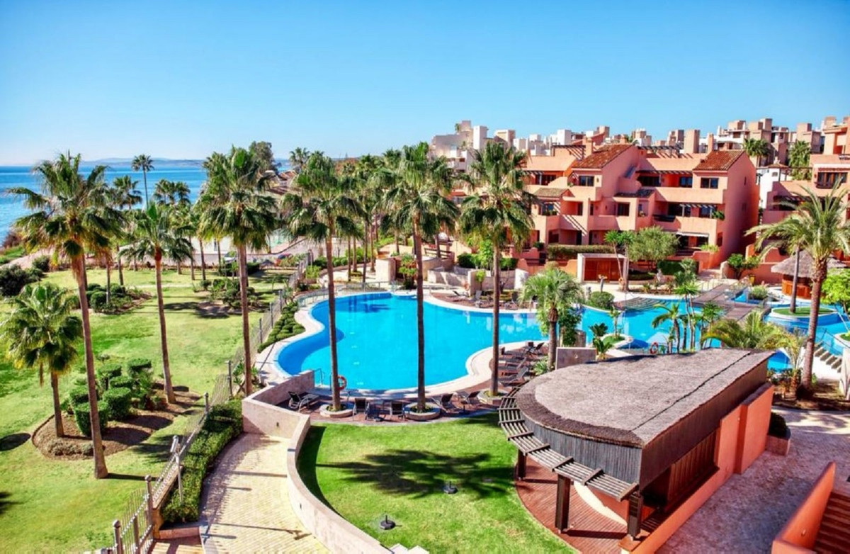 Luxurious beachfront penthouse with open sea views . The southwest-facing apartment consists of a br, Spain