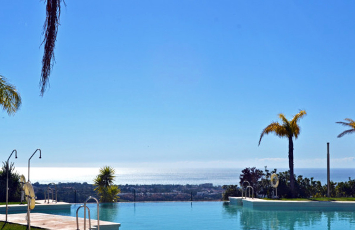Nice apartment with panoramic sea and coastal views, New Golden Mile, Benahavis.  Spacious and brigh, Spain