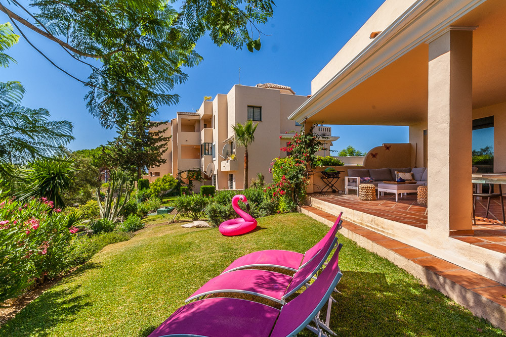 Beautiful 3 bedroom corner ground floor apartment with wonderful views over the communal garden to t,Spain